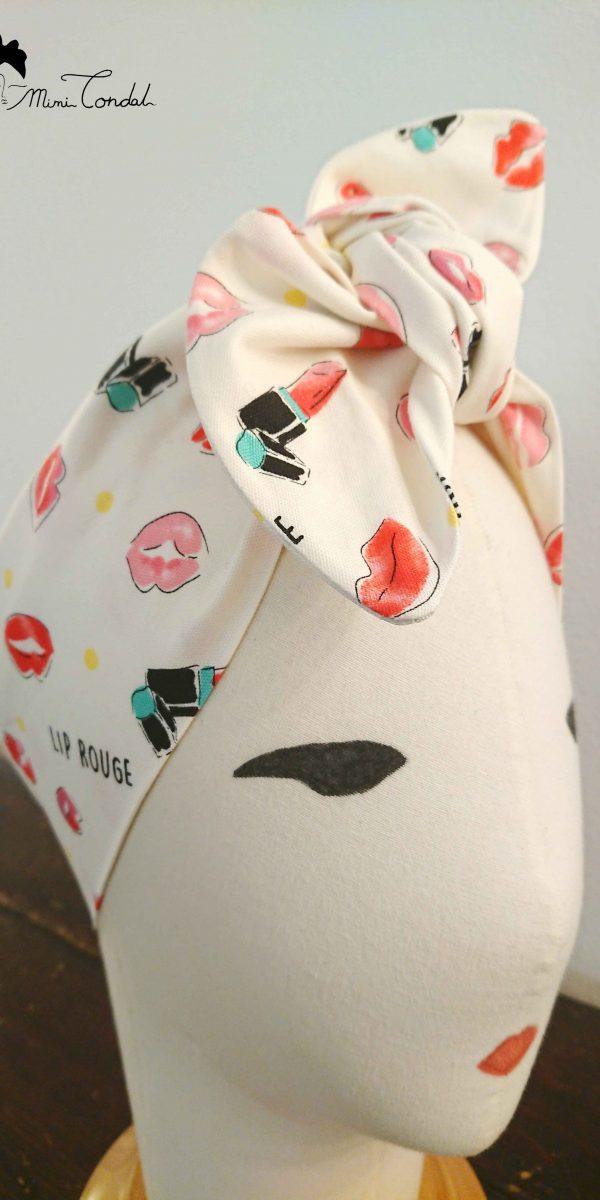 Fascia pin up kiss kiss, dettaglio nodo