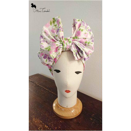 Turbante fiocco con fiorellini