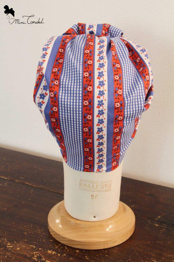 Foulard triangolare, stile turbante retro