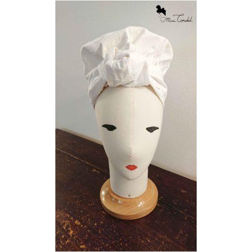 Turbante bonnet in cotone con pailletes, fronte