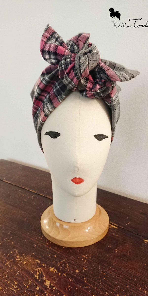 Turbante scozzese preformato, fronte