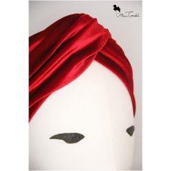 Fascia turbante velluto rosso, dettaglio nodo frontale
