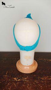 Fascia azzurra con perline, retro