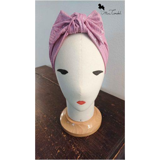 Turbante rosa pitonato, fronte